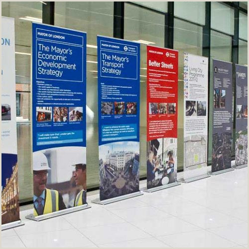 Standing Banner Dimensions Banner Stands Tension Roller And Rigid Options