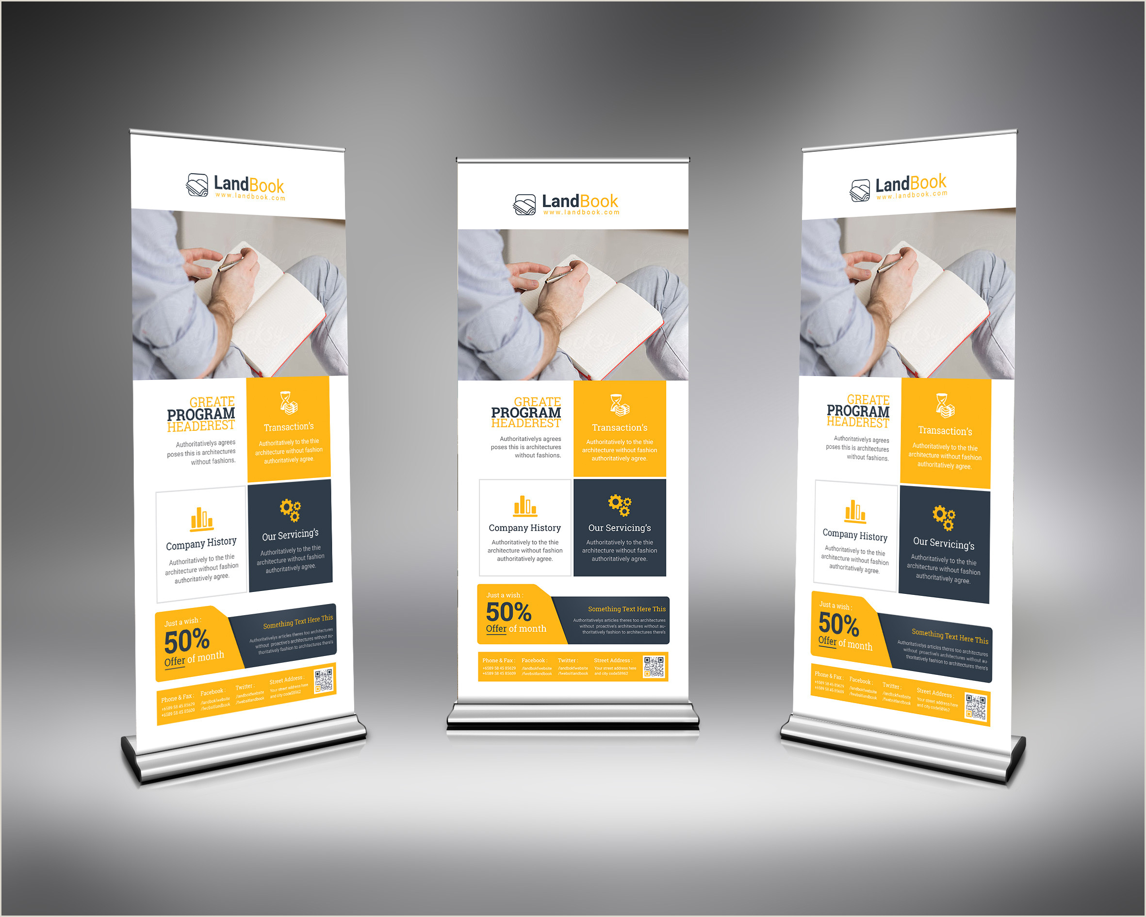 Standing Banner Dimensions Psd Elegant Roll Up Banner Template