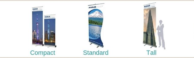 Standing Banner Dimensions Pull Up Banner Size Guide