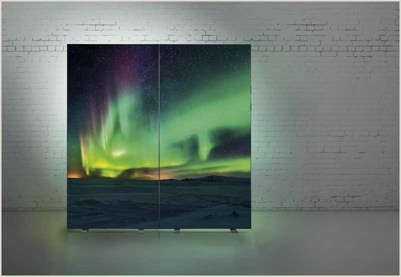 Standing Banners For Displays Led Textile Stretching Frame Display 100 X 200 Cm Free Standing