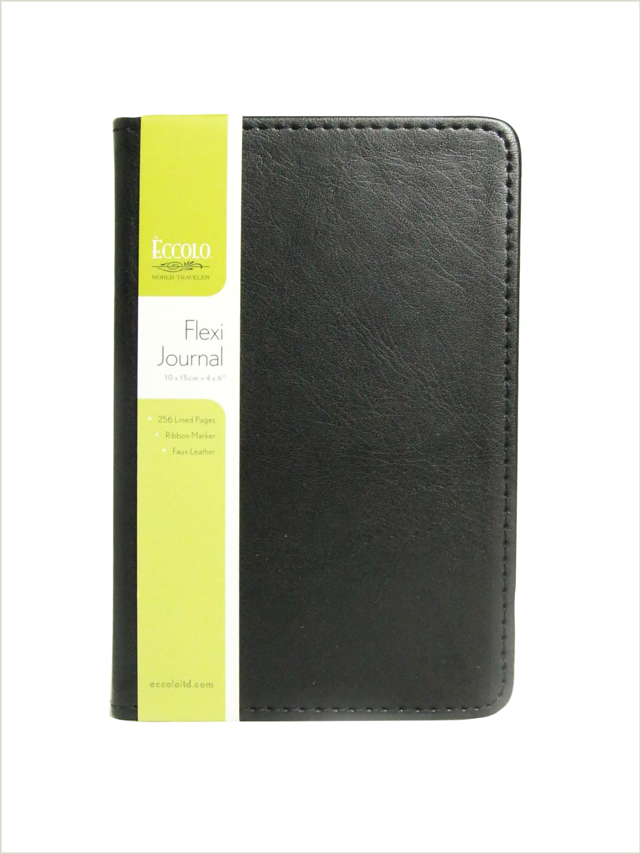 """Stylish Business Cards Eccolo Flexi Journal 4"""" X 6"""" 256 Pages 128 Sheets Black Item"""