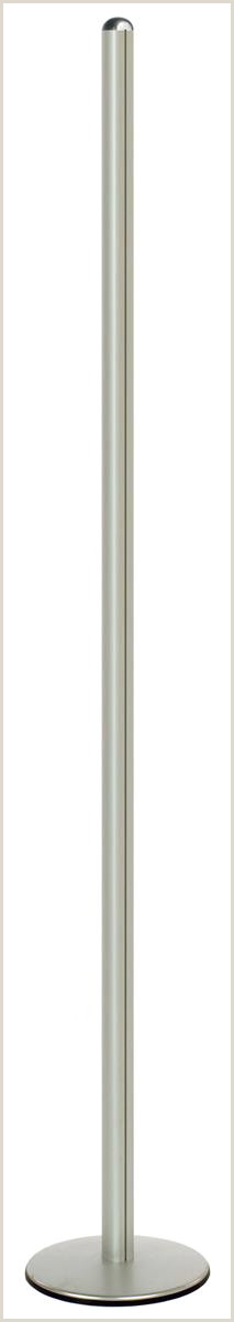 T Pole Banner Stands 8 Foot Display Pole For Sign Frames Or Pockets Sold Separately Round Base Silver
