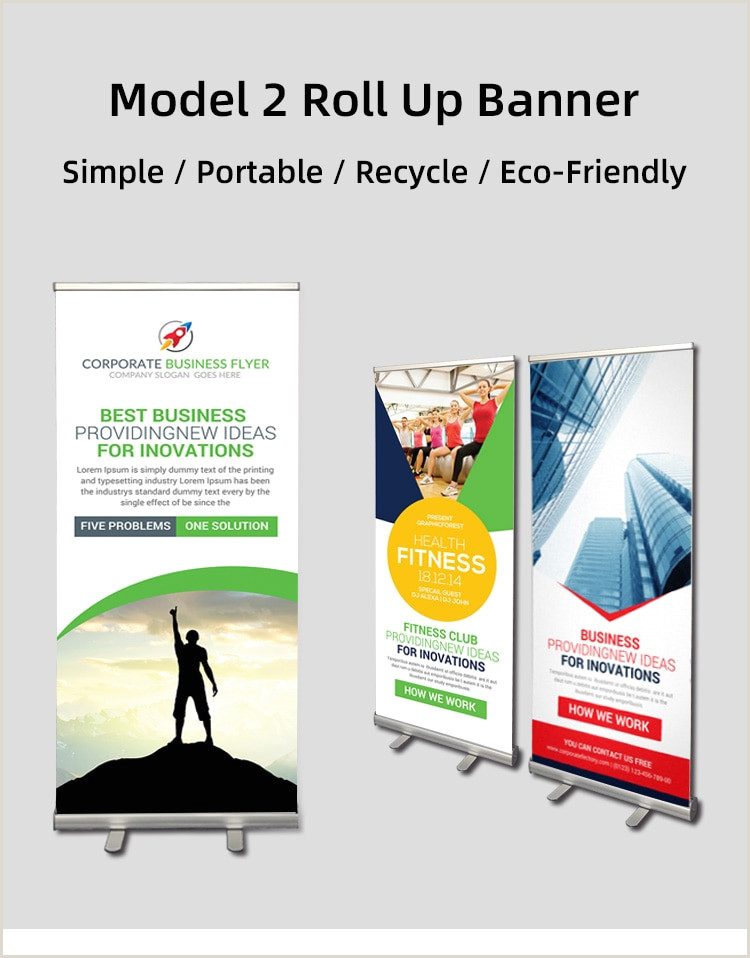 T Pole Banner Stands 80x200cm Round Type Advertising Display Banner Stand
