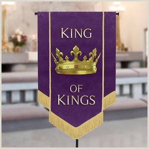 T Pole Banner Stands Call Him By Name Series Banner King Of Kings