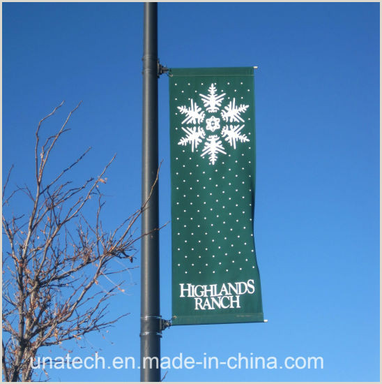 T Pole Banner Stands China Metal Street Light Pole E Sided Image Media