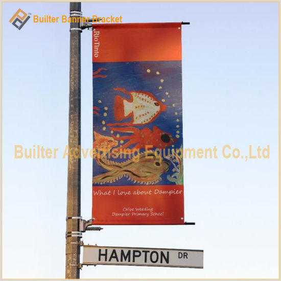 T Pole Banner Stands China Metal Street Pole Advertising Flag Stand Bt10