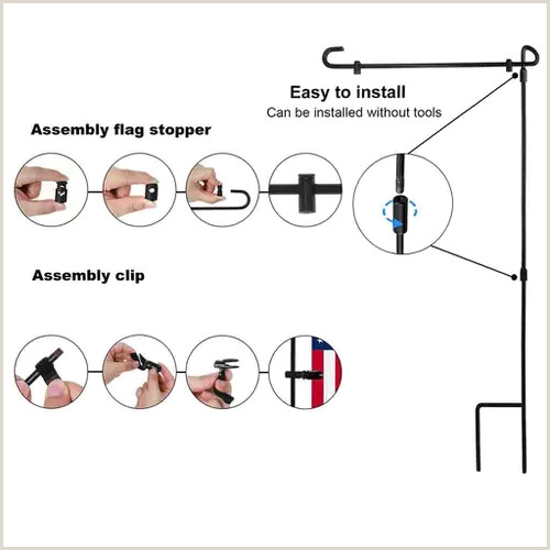 T Pole Banner Stands Garden Iron Flag Pole Outdoor Yard Flags Stand Holder Banner Bracket Stoppers Vova
