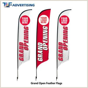 T Pole Banner Stands Polyester Fabric Custom Flag Banners Roadside Advertising