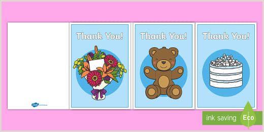 Thank You Business Cards Templates Free Thank You Messages For Nursery Staff