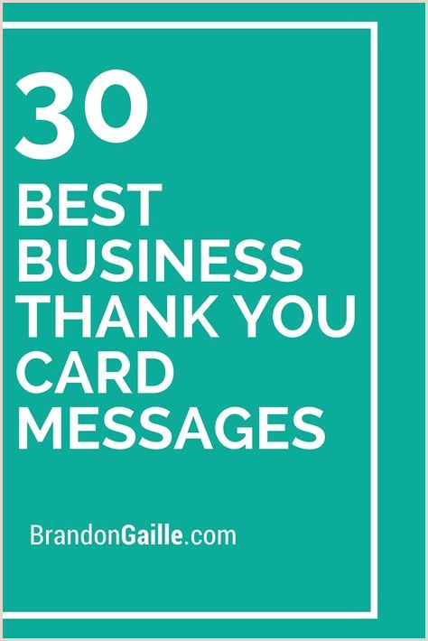 Thank You For Your Business Card 125 Best Business Thank You Card Messages
