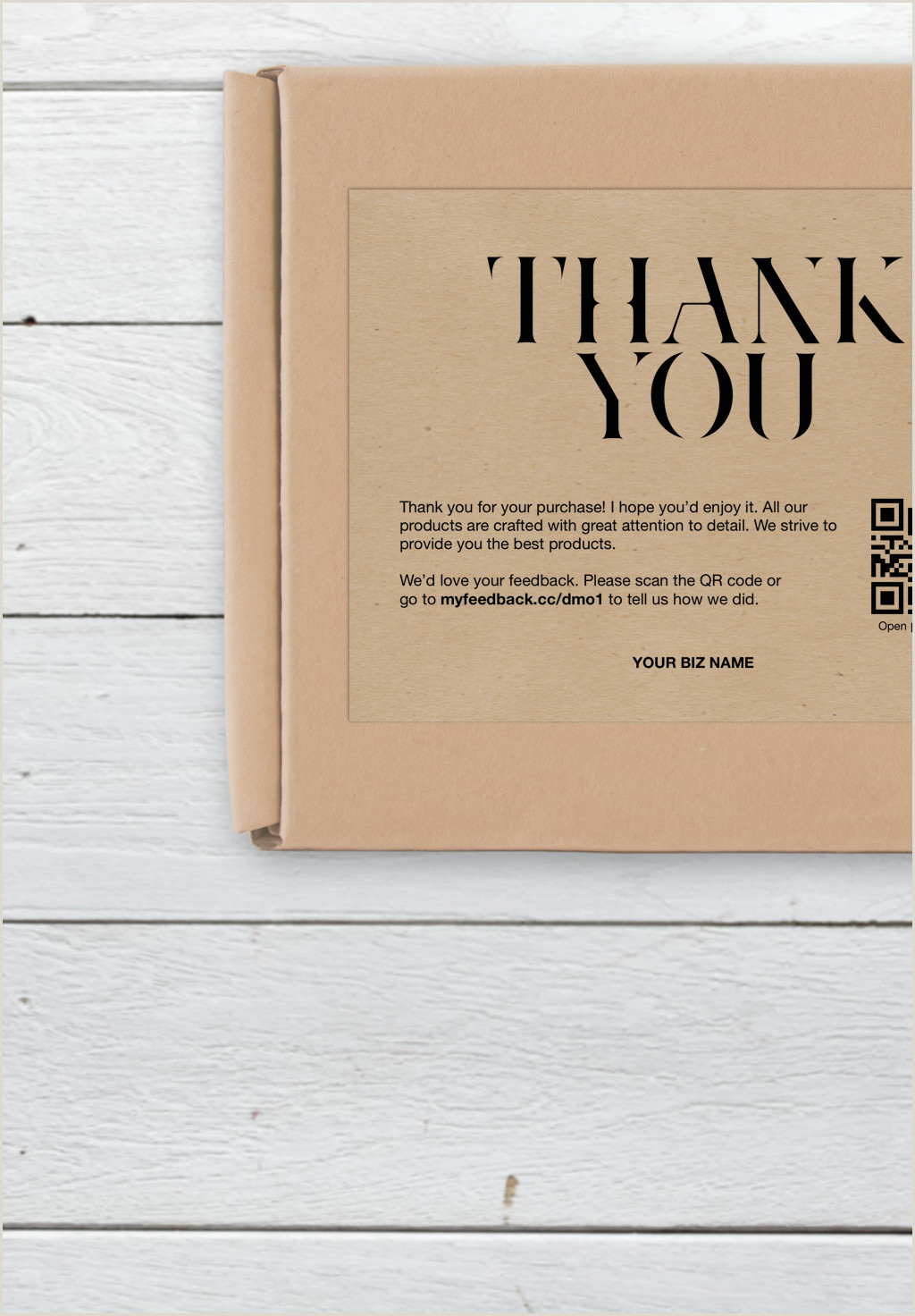 Thank You For Your Business Card Business Thank You Card Thank You For Your Purchase