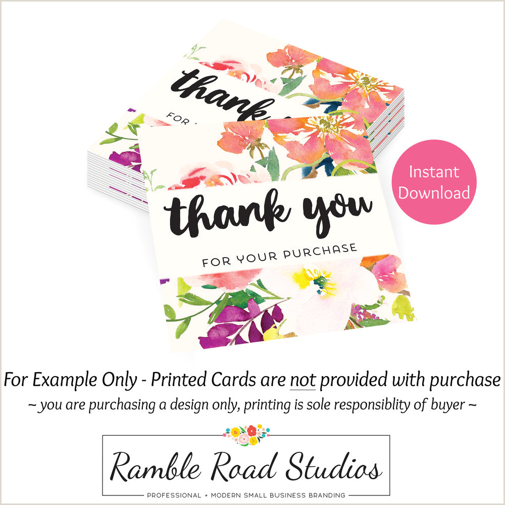 Thanks For Your Business Cards Business Card Sized Thank You For Your Business Card