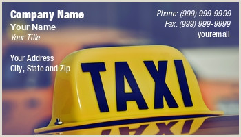 The Best Business Cards For Taxi Cab Business Cards