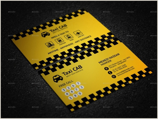 The Best Business Cards For Taxi Free 17 Modern Taxi Business Card Templates In Psd