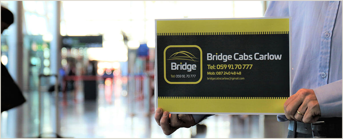 The Best Business Cards For Taxi Home • Bridge Cabs Carlow