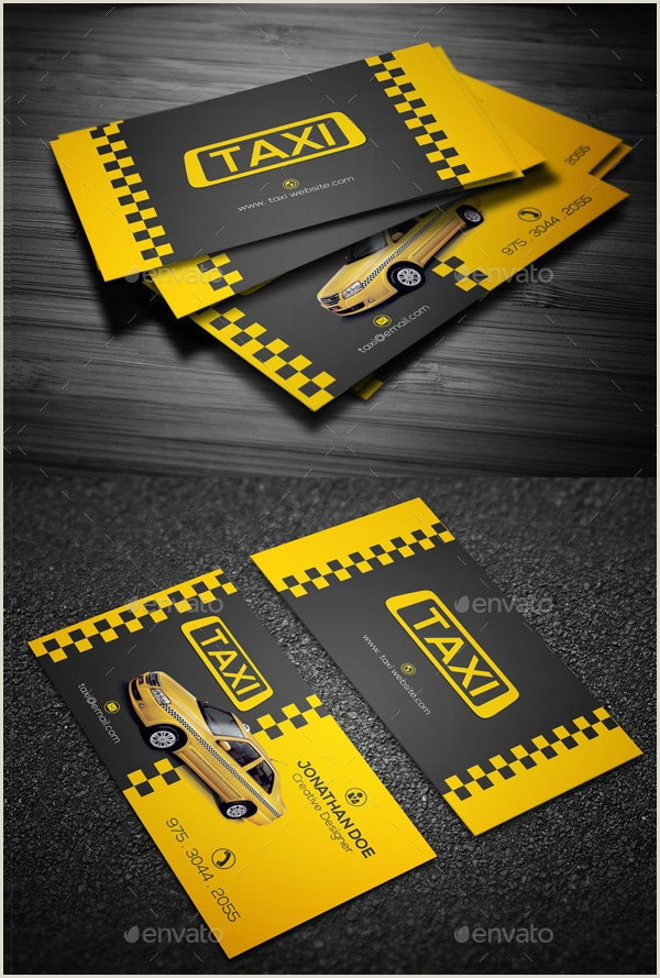 The Best Business Cards For Taxi Image 12 Taxi Business Card Templates Ai Pages Word