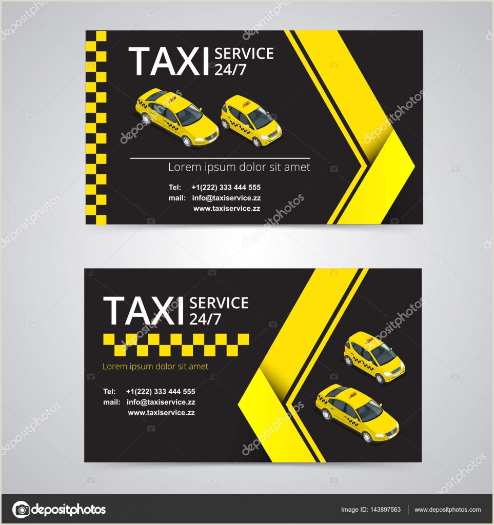The Best Business Cards For Taxi Image Taxi Card For Taxi Drivers Taxi Service Vector Business Card Template Pany Brand Branding Identity Logotype Business Card Template With