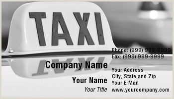The Best Business Cards For Taxi Taxi Driver Business Cards