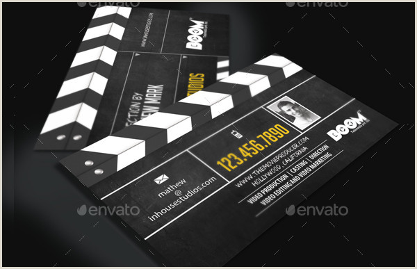The Best Business Cards For The Film Industry Business Card Template 25 Free & Premium Designs