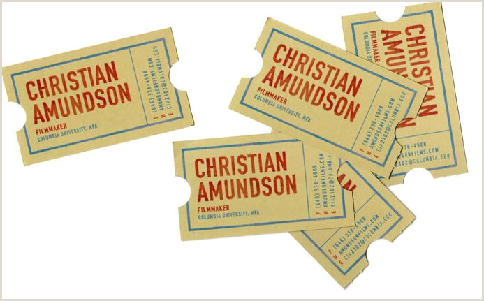 The Best Business Cards For The Film Industry Cool Business Cards For A Maker