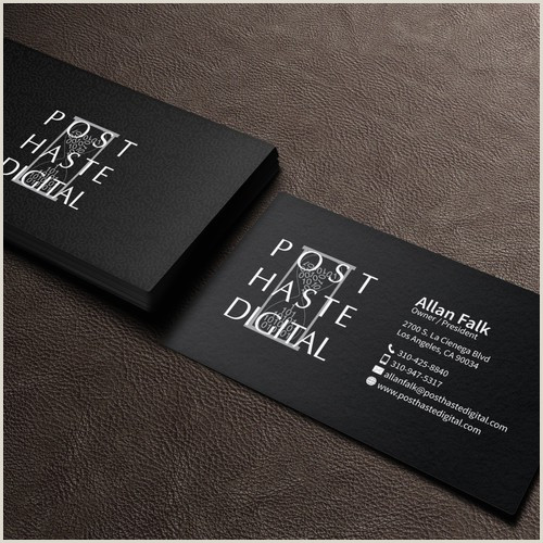 The Best Business Cards For The Film Industry Hollywood Post Production Pany Business Cards