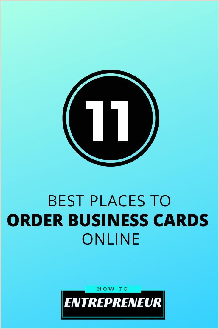 The Best Business Cards To Order Online 11 Best Places To Order Business Cards Line In 2020