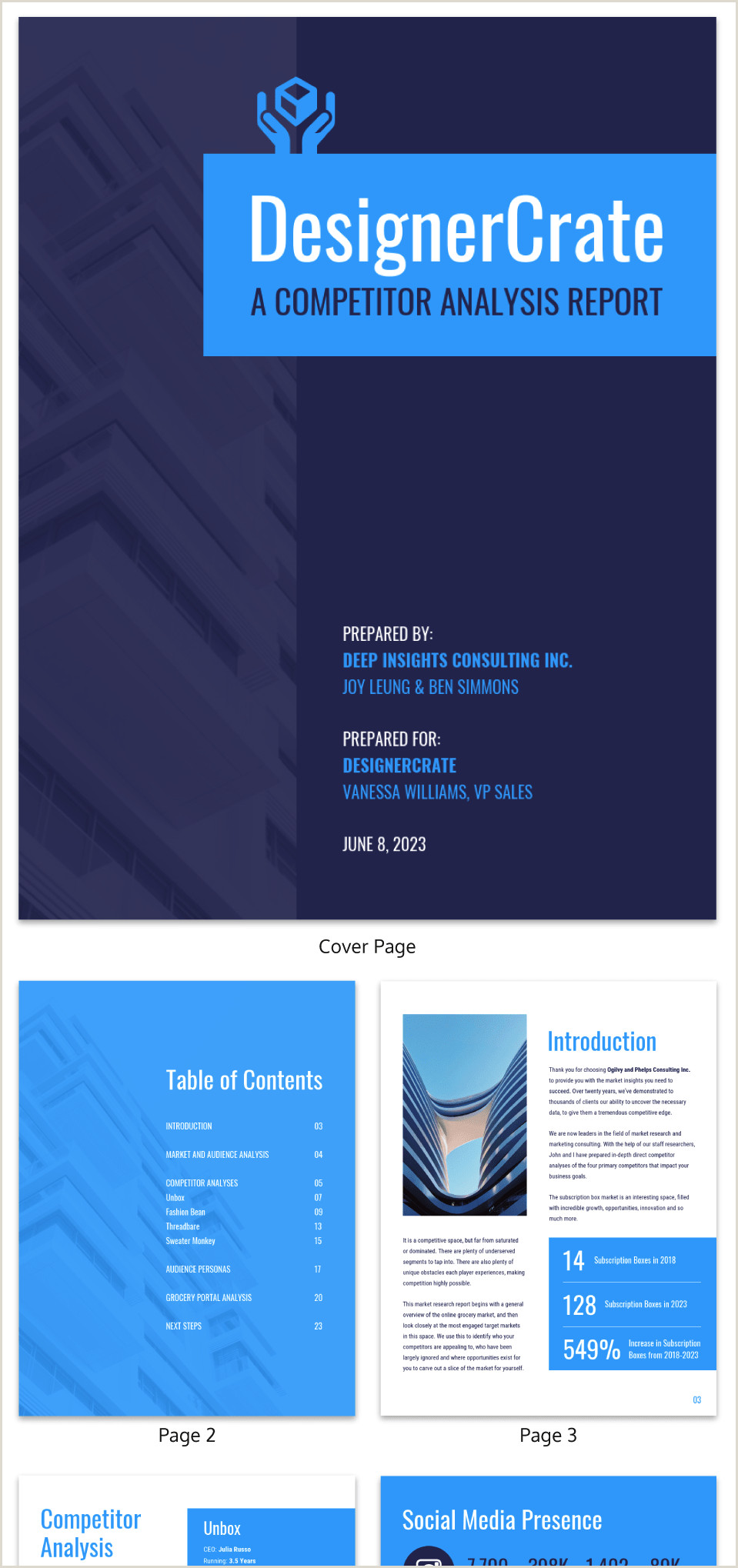 The Word Element Card  Is An Example Of A: 19 Consulting Report Templates That Every Consultant Needs