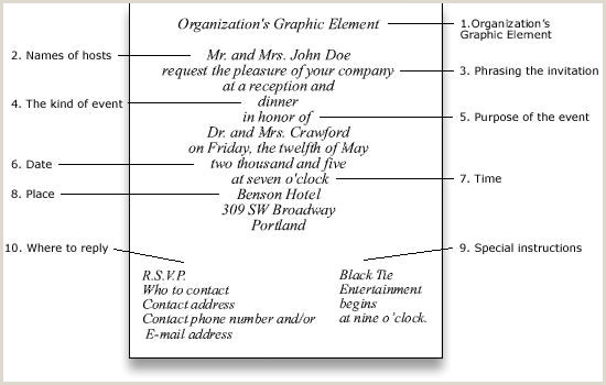 The Word Element Card  Is An Example Of A: Elements Of A Formal Event Invitation