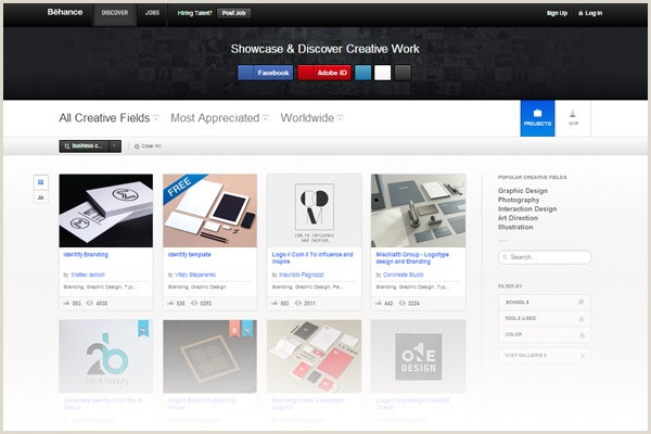 Top Business Cards Sites 22 Best Places To Find Business Card Design Inspiration