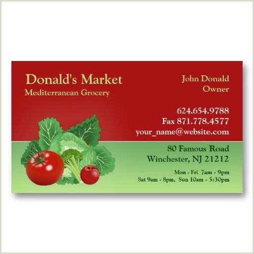 Totally Unique Business Cards Market Grocery Business Card Zazzle In 2020