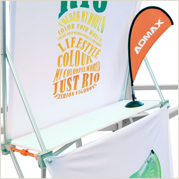 Trade Show Pull Up Banners 3 X 3 Pop Up Banner Stands With Plastic Buckle Connector