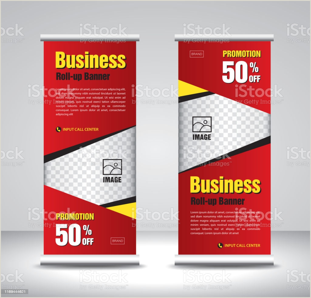 Trade Show Pull Up Banners Roll Up Banner Template Vector Sale Banner Stand Exhibition Design Advertisement Pull Up Xbanner And Flagbanner Layout Stock Illustration Download