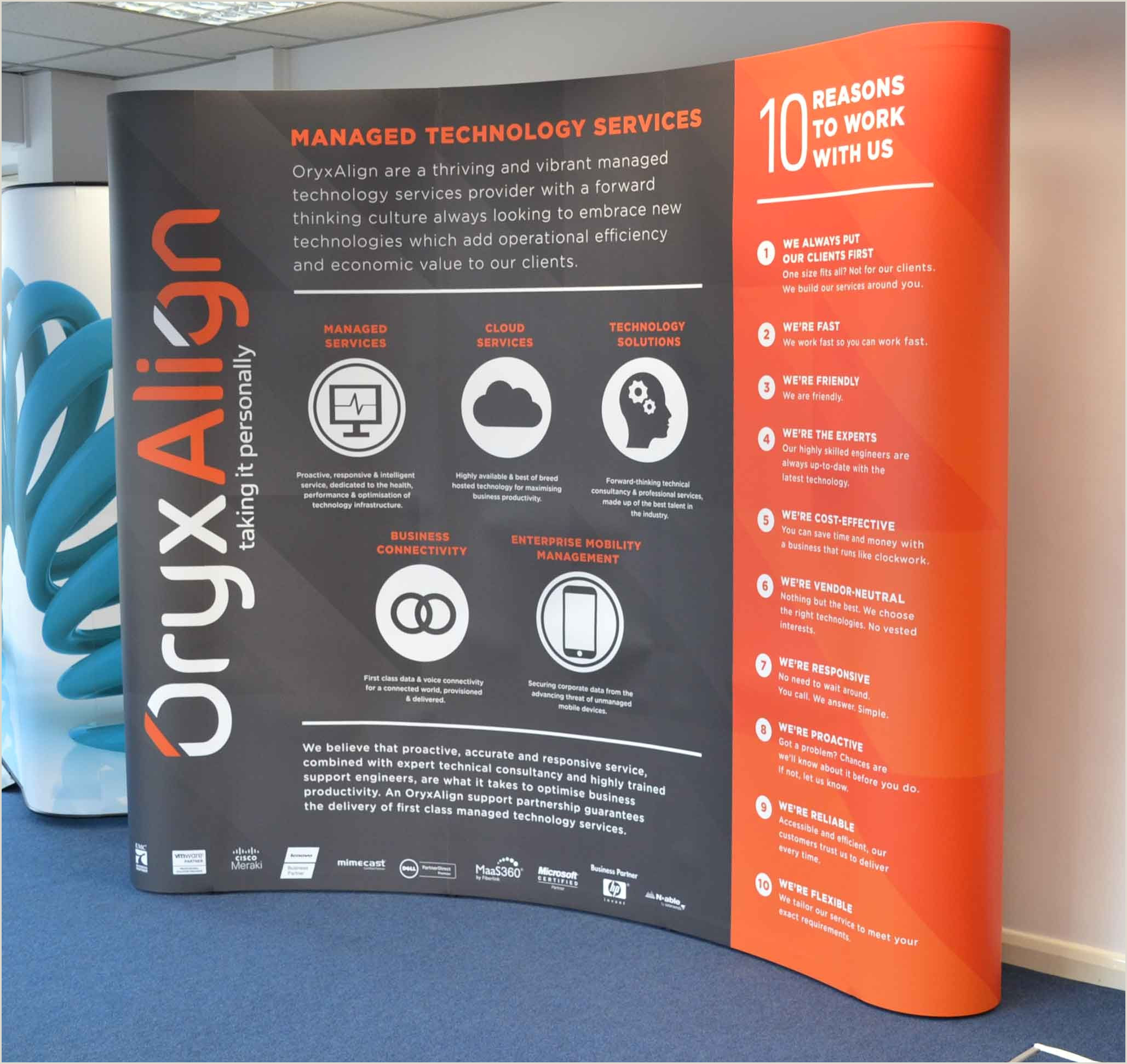 Tradeshow Pop Up Banner Nice Stand