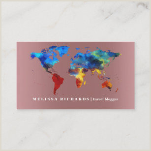 Travel Blog Business Cards Travel Blog Business Cards Business Card Printing