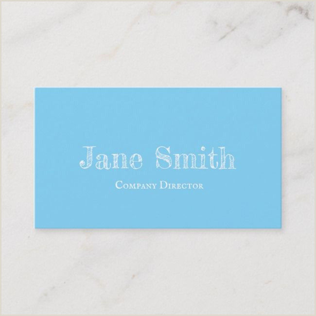 Trends In Business Cards Elegant Style Minimal Blue Business Card Blue Business