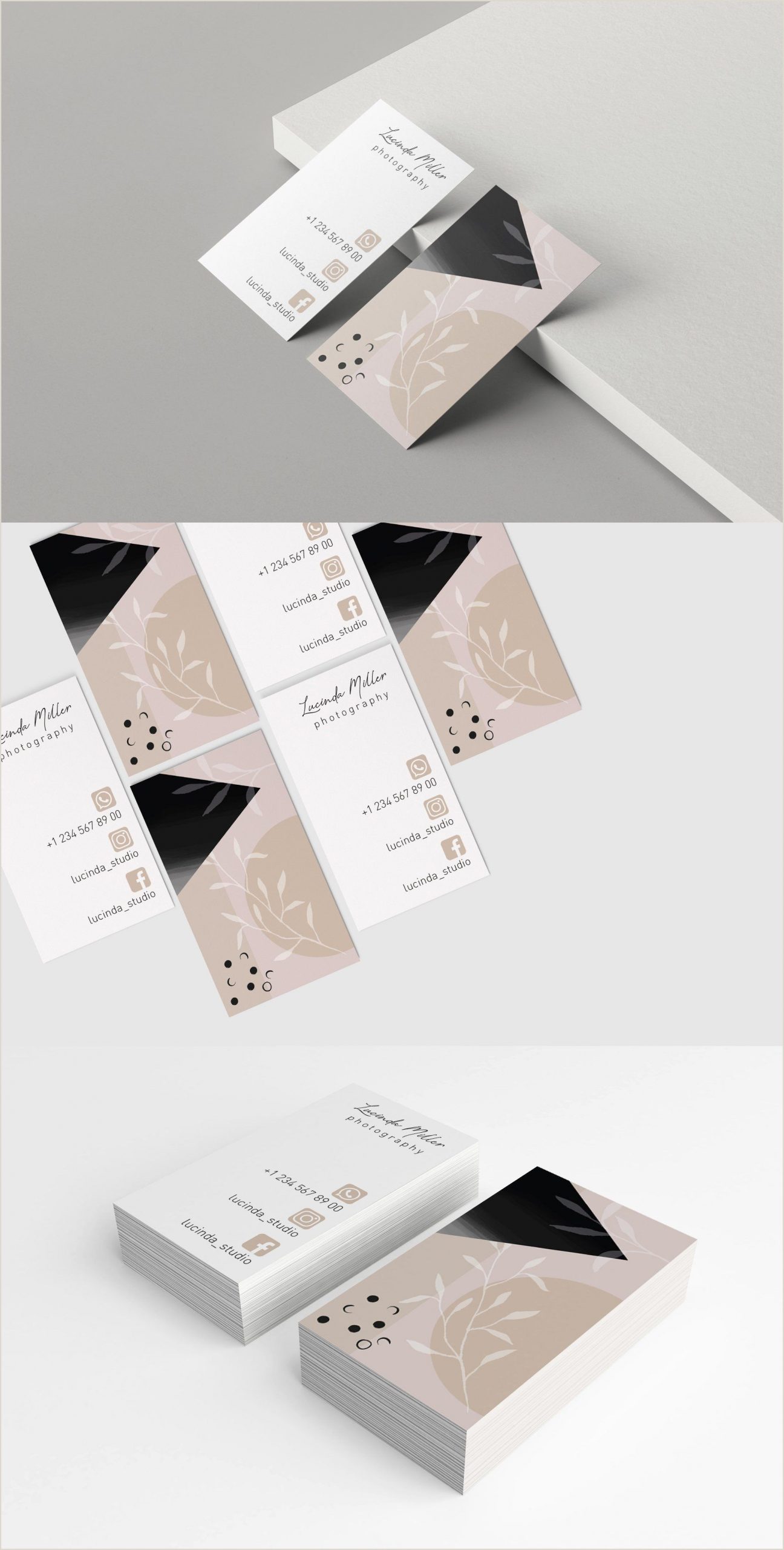 Trends In Business Cards Modern Business Card Template
