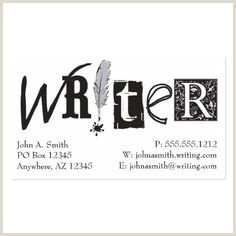 Types Of Business Cards Paper 100 Best Writer Business Cards Images
