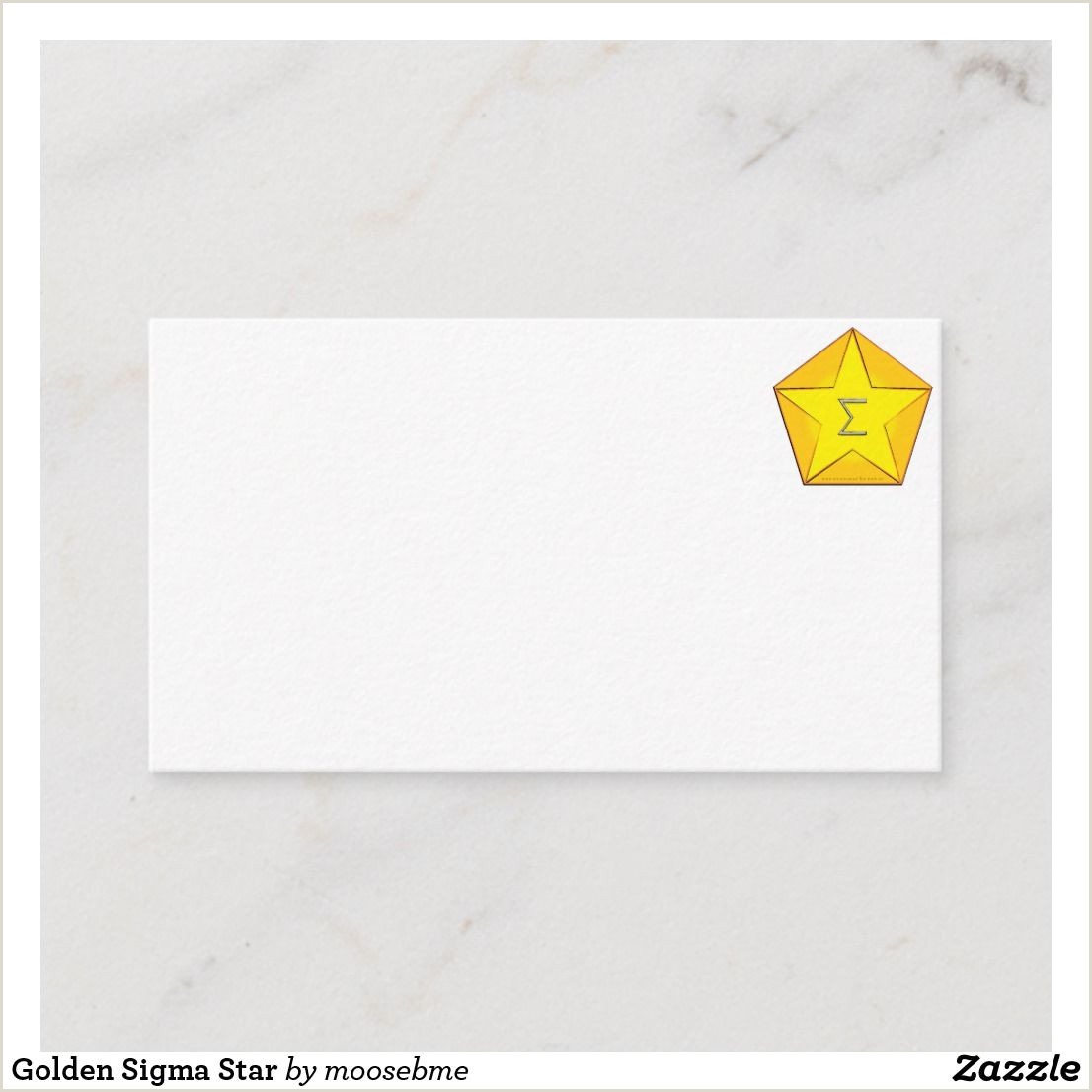Types Of Business Cards Paper Golden Sigma Star Business Card
