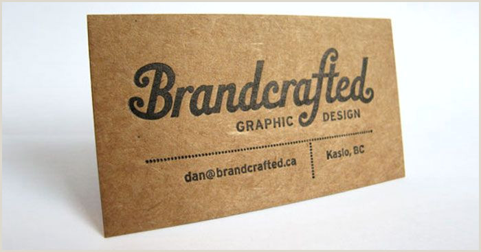 Types Of Business Cards Paper Kraft Paper Business Cards 14 Eye Catching Examples