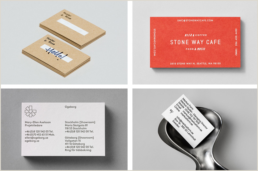 Types Of Business Cards The Best Business Card Designs No 8 — Bp&o