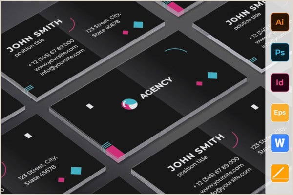 Unique Ad Agency Business Cards 18 Agency Business Card Templates Word Psd Indesign