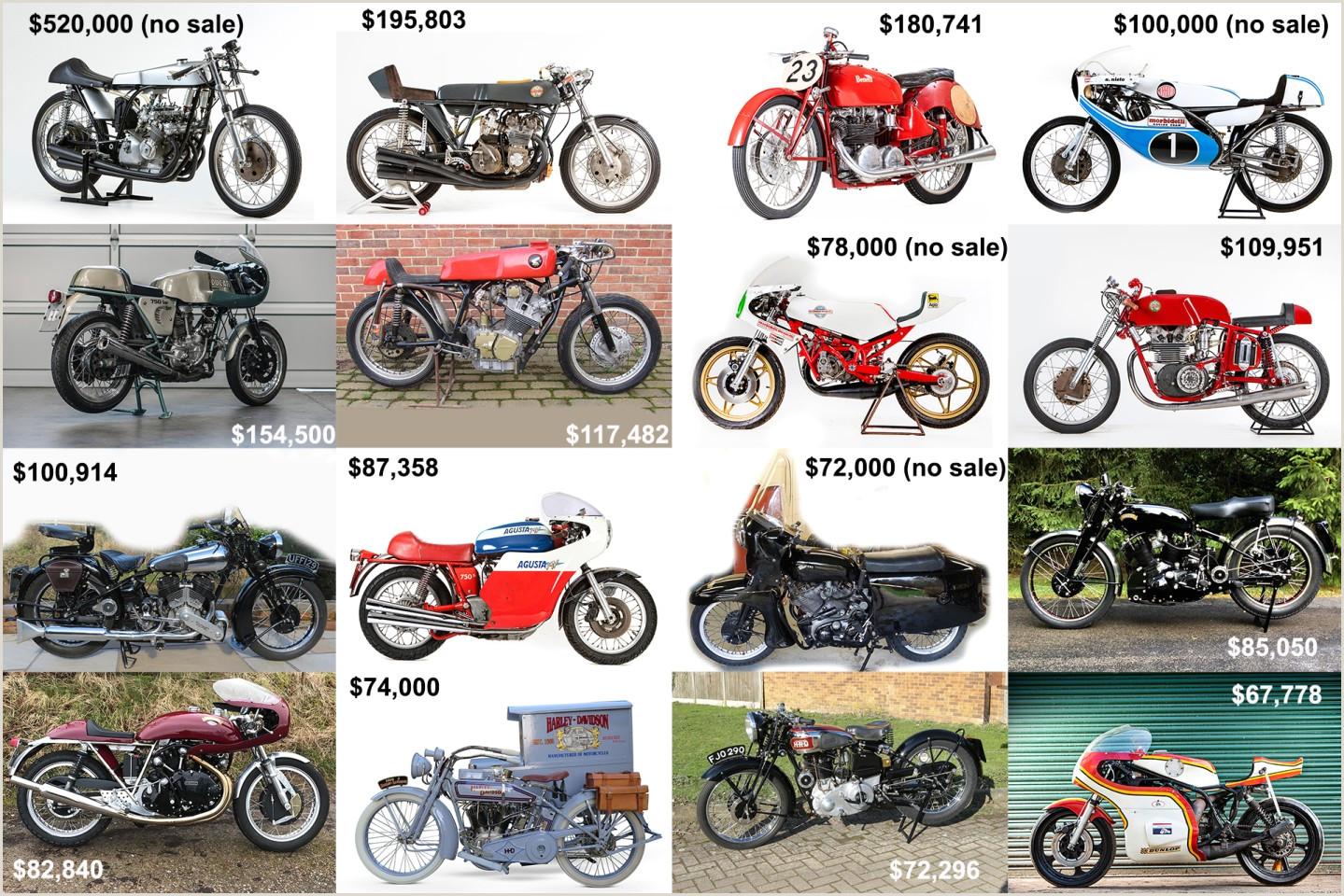 Unique Automotive Business Cards Massive Week In Vintage Motorcycle Auction Sales