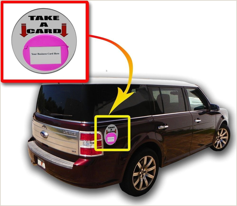 Unique Automotive Business Cards Qty 6 Pink Business Card Holder Vehicle Magnetic Card Cad
