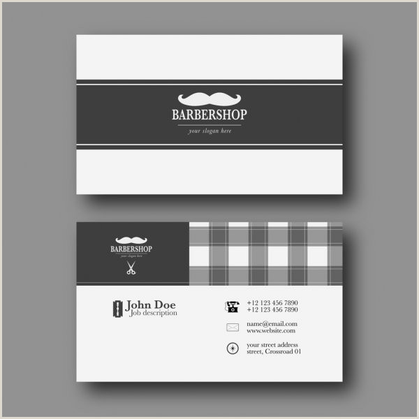 Unique Barber Business Cards Barber Shop Business Card Template — Stock Vector