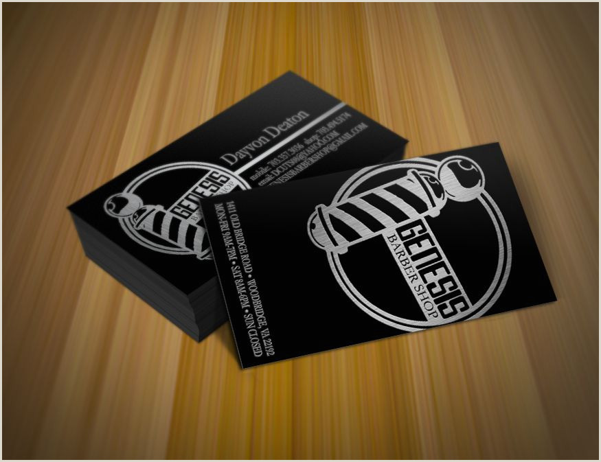 Unique Barber Business Cards Genesis Barbershop Brand Identity Cards