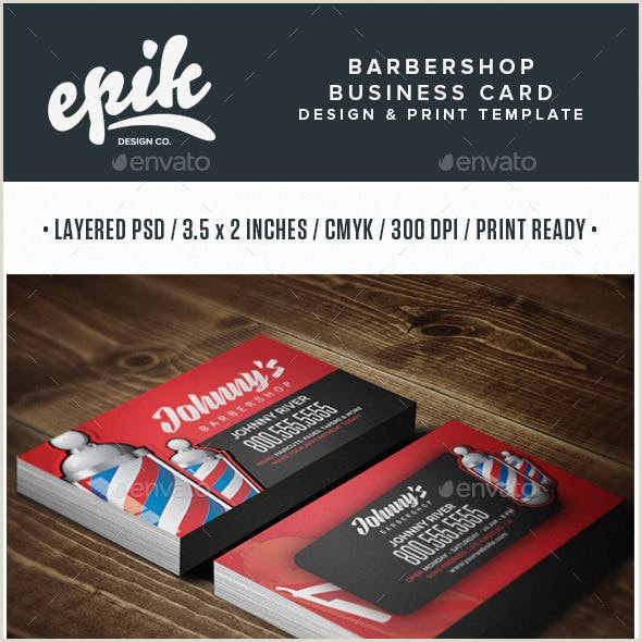 Unique Barber Shop Business Cards ✅ Business Card Examples For Create Custom Design