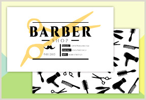 Unique Barber Shop Business Cards Bar Png Vector And Psd Files
