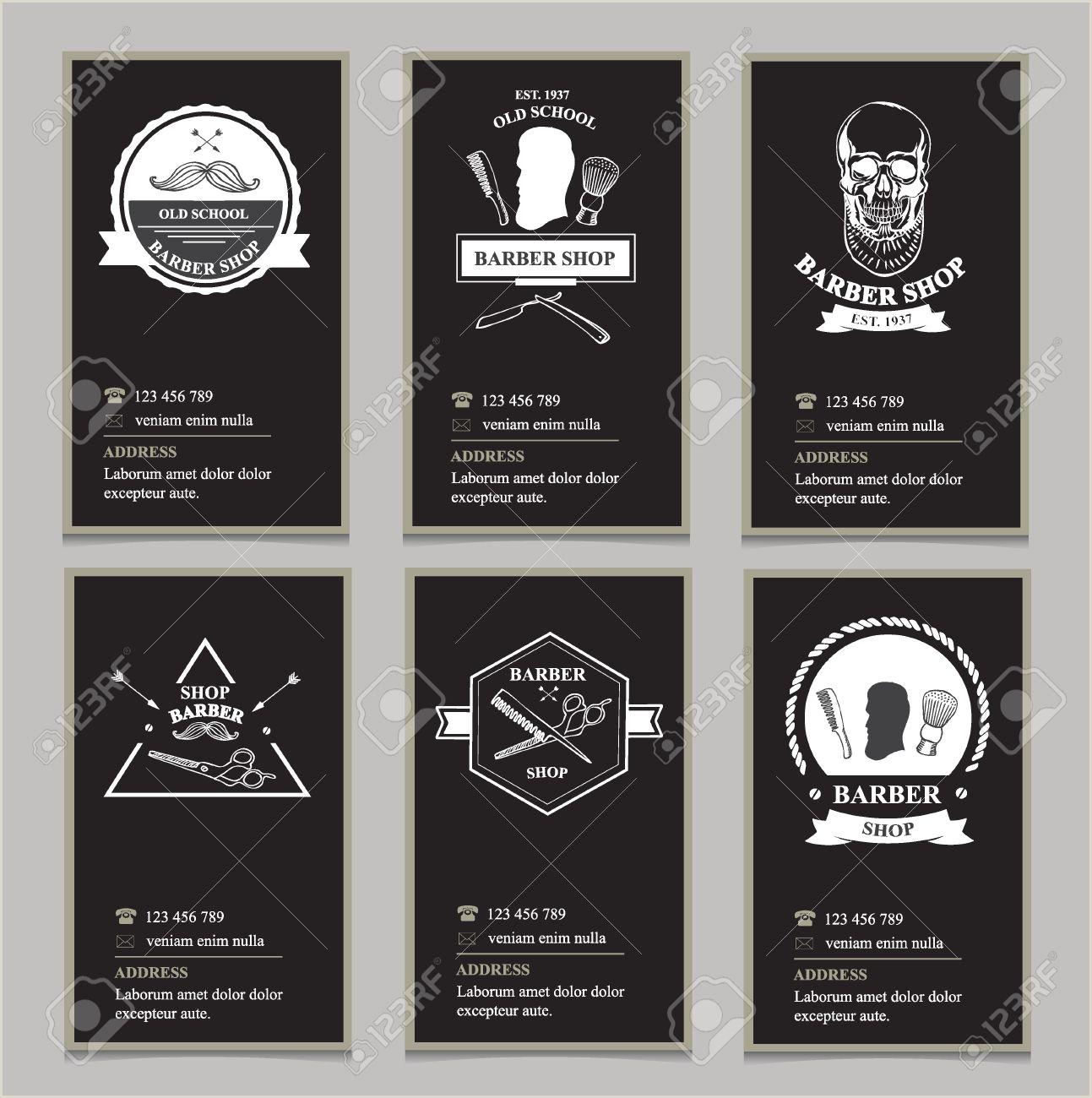 Unique Barber Shop Business Cards Visiting Card Design Barbershop