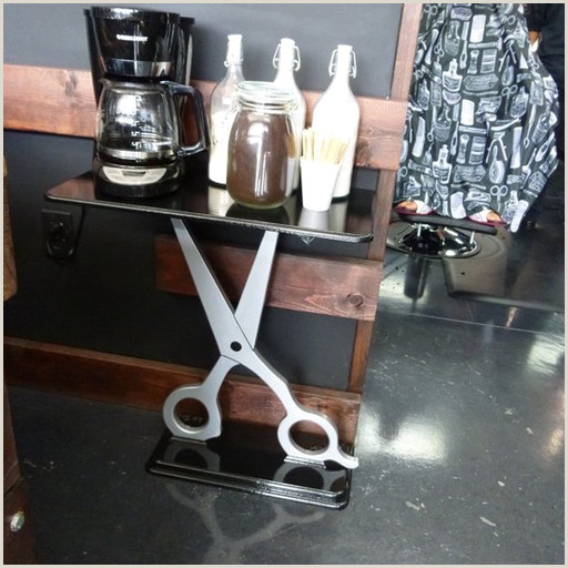 Unique Barbershop Business Cards Unique Scissor Table Custom Salon Table Contemporary Barber Table