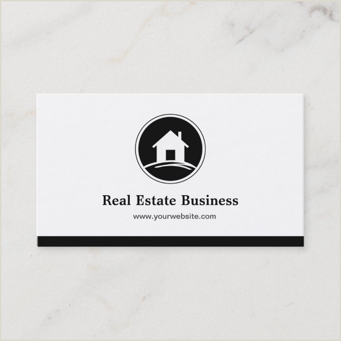 Unique Black White And Red Real Estate Business Cards Professional Real Estate Broker Simple Black White Business Card